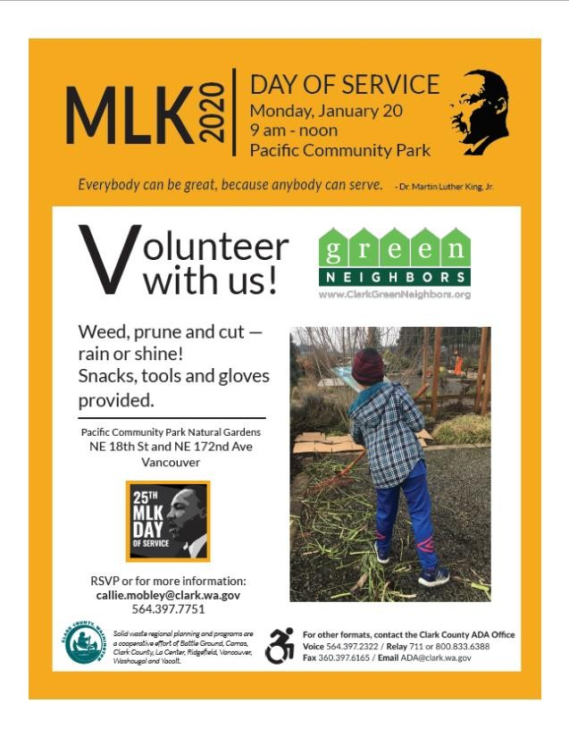 Volunteer at Pacific Park for MLK Day!