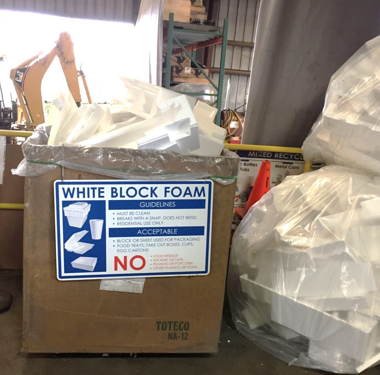 Block Foam Now Accepted at Clark County Site