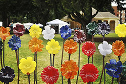 Glass Recycled Flowers
